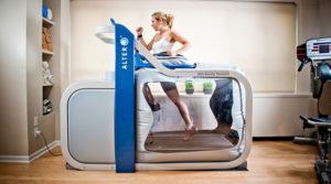 The AlterG treadmill.